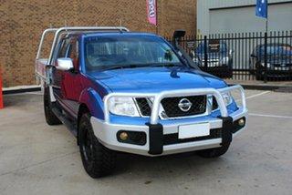 2011 Nissan Navara D40 ST-X (4x4) Blue 5 Speed Automatic King Cab Chassis.