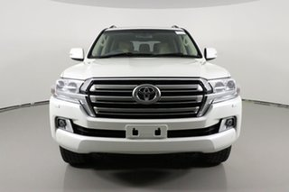 2016 Toyota Landcruiser VDJ200R MY16 VX (4x4) Pearl White 6 Speed Automatic Wagon.