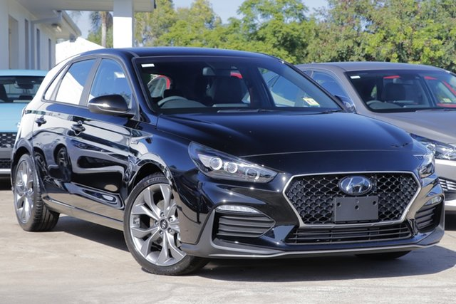 New Hyundai i30 PD.V4 MY21 N Line D-CT Beaudesert, 2021 Hyundai i30 PD.V4 MY21 N Line D-CT Phantom Black 7 Speed Sports Automatic Dual Clutch Hatchback