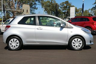 2011 Toyota Yaris NCP131R YRS Silver 4 Speed Automatic Hatchback