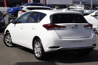 2016 Toyota Corolla ZWE186R Hybrid E-CVT White 1 Speed Constant Variable Hatchback Hybrid.