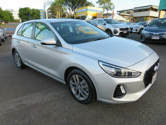 Used Hyundai i30 PD MY18 Active Mount Gravatt, 2017 Hyundai i30 PD MY18 Active Silver 6 Speed Sports Automatic Hatchback