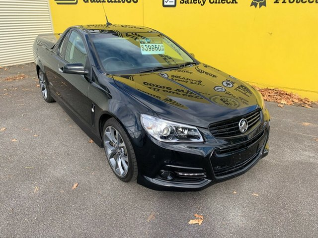 Used Holden Ute VF MY14 SS V Ute Launceston, 2013 Holden Ute VF MY14 SS V Ute Black 6 Speed Manual Utility