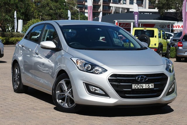Used Hyundai i30 GD4 Series 2 Active X Rosebery, 2015 Hyundai i30 GD4 Series 2 Active X Silver 6 Speed Automatic Hatchback