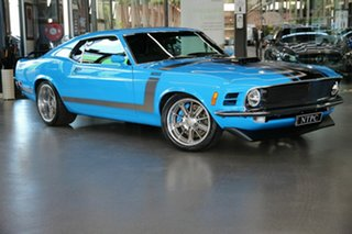 1970 Ford Mustang Fastback Blue 3 Speed Automatic Fastback.