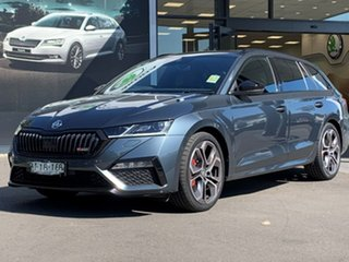 2021 Skoda Octavia NX MY21 RS DSG Grey 7 Speed Sports Automatic Dual Clutch Wagon.