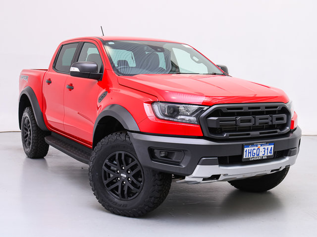 Used Ford Ranger PX MkIII MY19.75 Raptor 2.0 (4x4), 2019 Ford Ranger PX MkIII MY19.75 Raptor 2.0 (4x4) Red 10 Speed Automatic Double Cab Pick Up