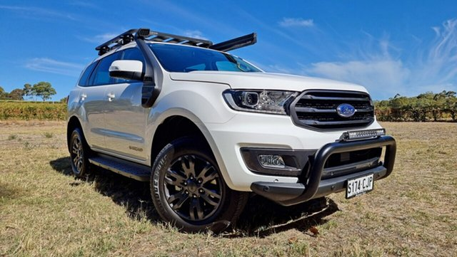 Demo Ford Everest UA II 2021.25MY Trend Tanunda, 2020 Ford Everest UA II 2021.25MY Trend Arctic White 6 Speed 2ED SUV