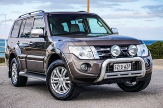 2013 Mitsubishi Pajero NW MY14 Exceed Brown 5 Speed Sports Automatic Wagon.