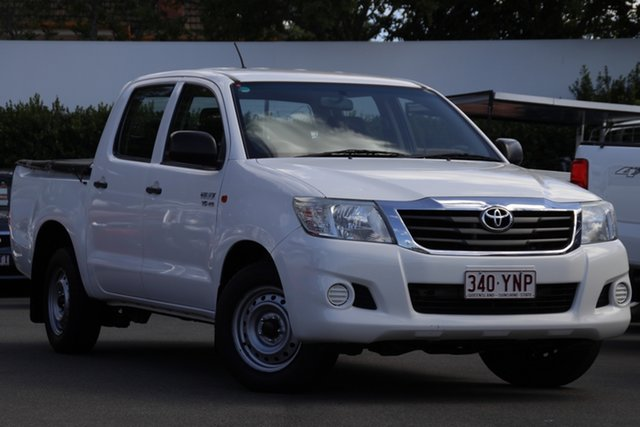 Used Toyota Hilux GGN15R MY14 SR Double Cab 4x2 Mount Gravatt, 2014 Toyota Hilux GGN15R MY14 SR Double Cab 4x2 White 5 Speed Automatic Utility