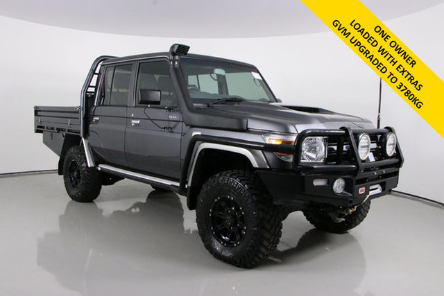 Used Toyota Landcruiser LC70 VDJ79R MY17 GXL (4x4) Bentley, 2017 Toyota Landcruiser LC70 VDJ79R MY17 GXL (4x4) Graphite 5 Speed Manual Double Cab Chassis