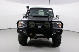 2017 Toyota Landcruiser LC70 VDJ79R MY17 GXL (4x4) Graphite 5 Speed Manual Double Cab Chassis.