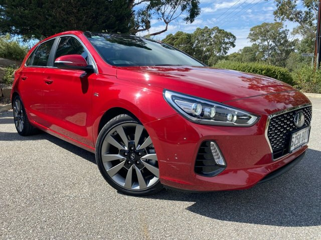 Used Hyundai i30 PD MY18 SR D-CT Premium Totness, 2018 Hyundai i30 PD MY18 SR D-CT Premium Fiery Red 7 Speed Sports Automatic Dual Clutch Hatchback