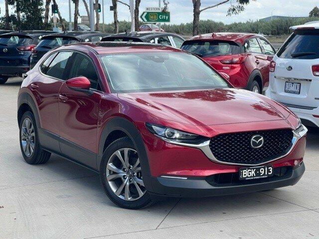 Demo Mazda CX-30 DM2WLA G25 SKYACTIV-Drive Astina Ravenhall, 2020 Mazda CX-30 DM2WLA G25 SKYACTIV-Drive Astina Soul Red Crystal 6 Speed Sports Automatic Wagon