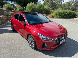 2018 Hyundai i30 PD MY18 SR D-CT Premium Fiery Red 7 Speed Sports Automatic Dual Clutch Hatchback