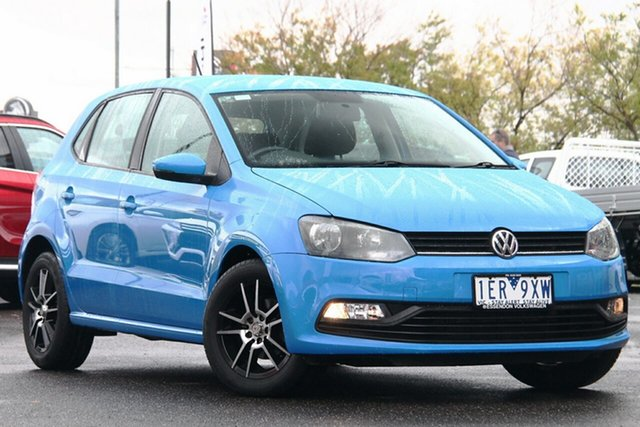Used Volkswagen Polo 6R MY15 66TSI DSG Trendline Essendon North, 2015 Volkswagen Polo 6R MY15 66TSI DSG Trendline Blue 7 Speed Sports Automatic Dual Clutch Hatchback