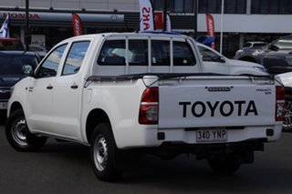 2014 Toyota Hilux GGN15R MY14 SR Double Cab 4x2 White 5 Speed Automatic Utility.