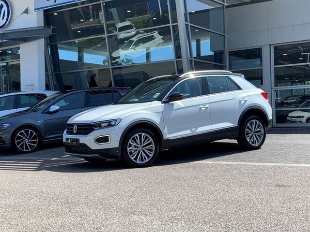 Demo Volkswagen T-ROC A1 MY21 110TSI Style Botany, 2021 Volkswagen T-ROC A1 MY21 110TSI Style White 8 Speed Sports Automatic Wagon