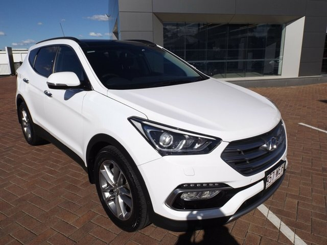 Used Hyundai Santa Fe DM2 MY15 Highlander Toowoomba, 2015 Hyundai Santa Fe DM2 MY15 Highlander White 6 Speed Sports Automatic Wagon