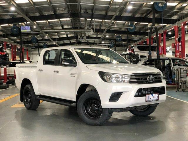 Pre-Owned Toyota Hilux GUN126R SR (4x4) Oakleigh, 2016 Toyota Hilux GUN126R SR (4x4) Glacier White 6 Speed Automatic Dual Cab Utility