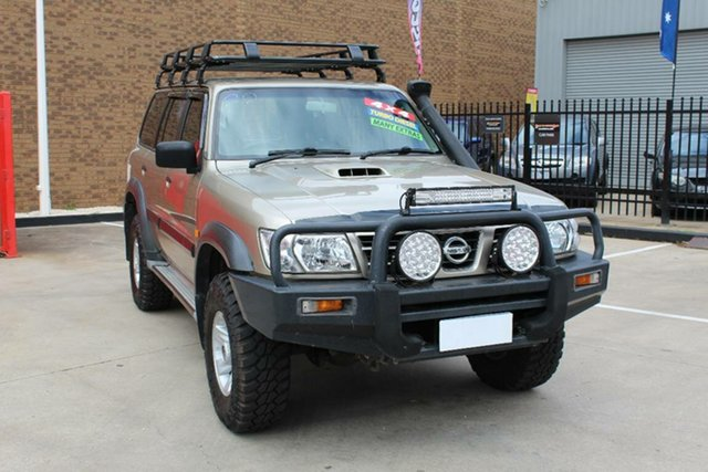 Used Nissan Patrol GU III ST (4x4) Hoppers Crossing, 2004 Nissan Patrol GU III ST (4x4) Gold 5 Speed Manual Wagon