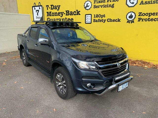 Used Holden Colorado RG MY18 LTZ Pickup Crew Cab Launceston, 2018 Holden Colorado RG MY18 LTZ Pickup Crew Cab Dark Shadow 6 Speed Sports Automatic Utility