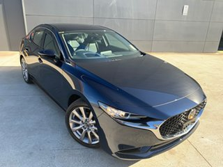 2021 Mazda 3 BP2S7A G20 SKYACTIV-Drive Touring Deep Crystal Blue 6 Speed Sports Automatic Sedan.