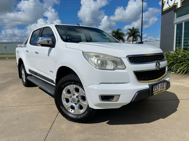 Used Holden Colorado RG MY13 LTZ Crew Cab Townsville, 2013 Holden Colorado RG MY13 LTZ Crew Cab White/270513 6 Speed Sports Automatic Utility