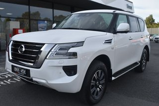 2020 Nissan Patrol Y62 Series 5 MY20 TI White 7 Speed Sports Automatic Wagon.