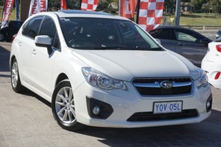 2013 Subaru Impreza G4 MY13 2.0i Lineartronic AWD White 6 Speed Constant Variable Hatchback.