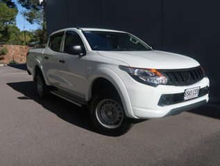 2016 Mitsubishi Triton MQ MY17 GLX Double Cab White 5 Speed Sports Automatic Cab Chassis.