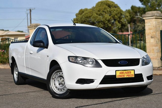 Used Ford Falcon FG Ute Super Cab Enfield, 2009 Ford Falcon FG Ute Super Cab White 5 Speed Automatic Utility