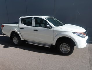 2016 Mitsubishi Triton MQ MY17 GLX Double Cab White 5 Speed Sports Automatic Cab Chassis