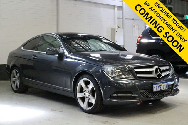 Used Mercedes-Benz C250 W204 MY12 BE Bentley, 2013 Mercedes-Benz C250 W204 MY12 BE Grey 7 Speed Automatic G-Tronic Coupe
