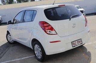 2013 Hyundai i20 PB MY14 Active White 6 Speed Manual Hatchback.