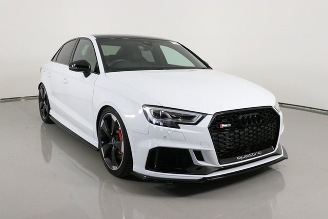 Used Audi RS 3 8V MY18 Quattro Bentley, 2018 Audi RS 3 8V MY18 Quattro White 7 Speed Auto Dual Clutch Sedan