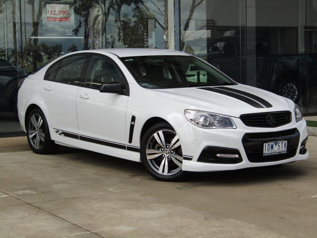 Used Holden Commodore VF MY14 SV6 Ravenhall, 2014 Holden Commodore VF MY14 SV6 White 6 Speed Sports Automatic Sedan