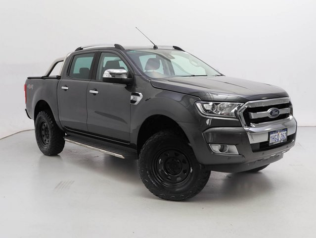 Used Ford Ranger PX MkII MY18 XLT 3.2 (4x4), 2018 Ford Ranger PX MkII MY18 XLT 3.2 (4x4) Grey 6 Speed Manual Double Cab Pick Up