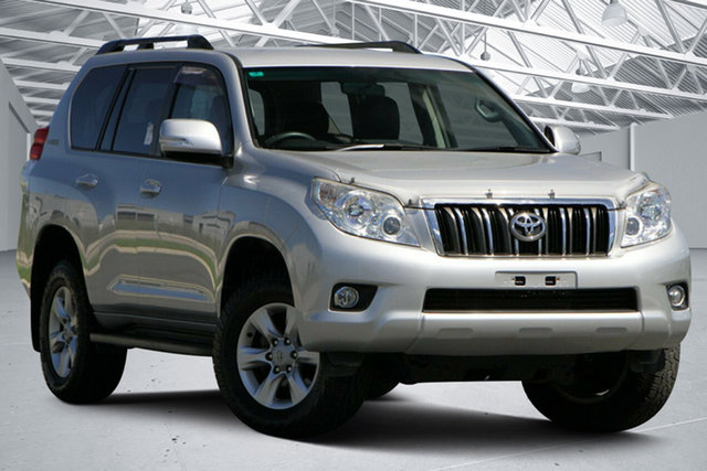Used Toyota Landcruiser Prado KDJ150R 11 Upgrade GXL (4x4) Eagle Farm, 2013 Toyota Landcruiser Prado KDJ150R 11 Upgrade GXL (4x4) Silver 5 Speed Sequential Auto Wagon