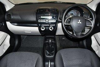 2013 Mitsubishi Mirage LA MY14 ES Mauve 5 Speed Manual Hatchback