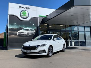 2021 Skoda Octavia NX MY21 110TSI Sedan Style White 8 Speed Automatic Liftback.