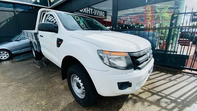 Used Ford Ranger PX XL Hi-Rider Maidstone, 2012 Ford Ranger PX XL Hi-Rider White 6 Speed Sports Automatic Cab Chassis