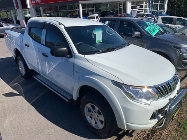 Used Mitsubishi Triton MQ MY16 GLX Double Cab Maitland, 2015 Mitsubishi Triton MQ MY16 GLX Double Cab White 6 Speed Manual Utility