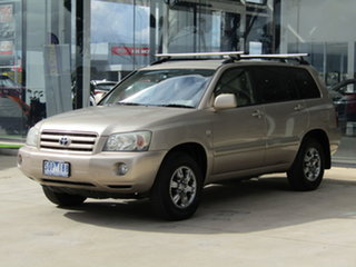 2003 Toyota Kluger MCU28R CV AWD Gold 5 Speed Automatic Wagon.