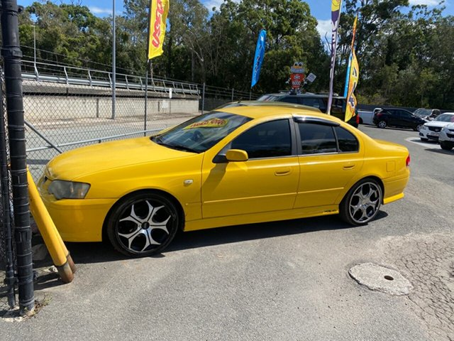 Used Ford Falcon Morayfield, 2005 Ford Falcon XR6 BA Yellow 4 Speed Auto Active Select Sedan