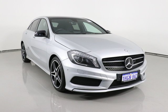 Used Mercedes-Benz A200 176 MY15 BE Bentley, 2015 Mercedes-Benz A200 176 MY15 BE Silver 7 Speed Automatic Hatchback