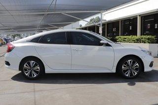 2017 Honda Civic 10th Gen MY17 VTi-L White 1 Speed Constant Variable Sedan.