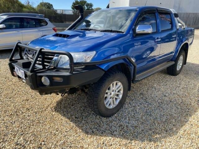 Used Toyota Hilux KUN26R MY12 SR5 (4x4) Wangaratta, 2012 Toyota Hilux KUN26R MY12 SR5 (4x4) Tidal Blue 5 Speed Manual Dual Cab Pick-up