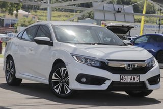 2017 Honda Civic 10th Gen MY17 VTi-L White 1 Speed Constant Variable Sedan.
