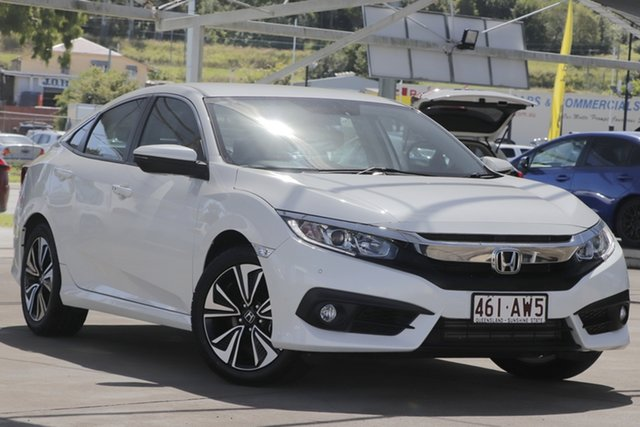 Used Honda Civic 10th Gen MY17 VTi-L Bundamba, 2017 Honda Civic 10th Gen MY17 VTi-L White 1 Speed Constant Variable Sedan